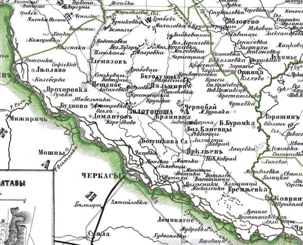 Золотоніський повіт у 1876 році