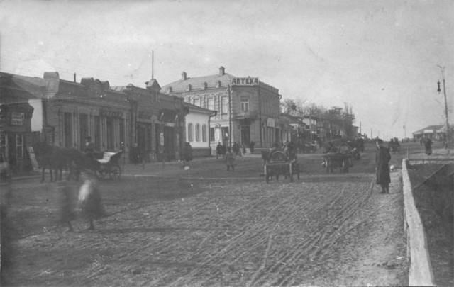 Золотоноша, вулиця Шевченка на початку 20 ст.