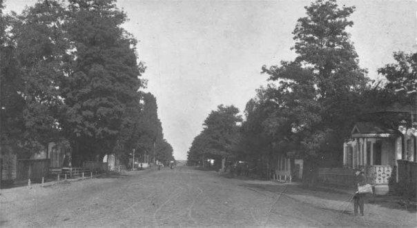 Сучасна вулиця Черкаська. Вигляд з перехрестя з вулицею Шевченка