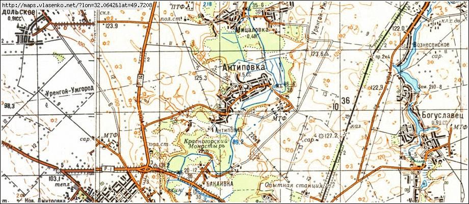 антипівка карта